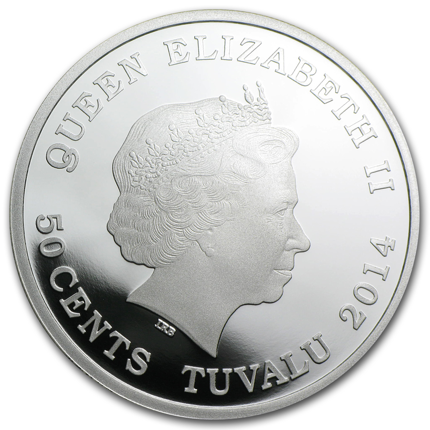 Tuvalu 2014 1/2 oz Forever Love Silver Proof Coin - Cockatoos